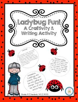 Ladybug Craft and Writing Activities