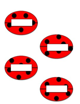 Ladybug Cubby Name Tags - Printable