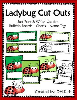 Ladybug Cut Outs
