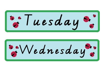 Ladybug Days of the Week