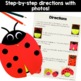 Ladybug Decomposing Numbers K.OA.3 (craft and step-by-step
