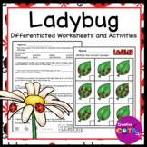 Ladybug Differentiated Worksheets and Activities
