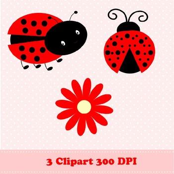 Ladybug Digital Paper & Clipart