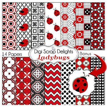 Ladybug Digital Papers