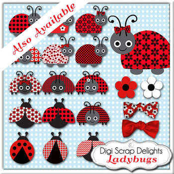 Ladybug Digital Papers