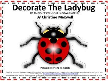 Ladybug Do Together Parent/Child Homework Activity