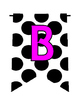 Ladybug Dots Alphabet/Number/Characters Pennants Bunting (White/Black)