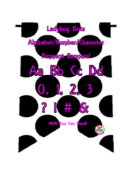 Ladybug Dots Alphabet/Number/Characters Pennants Bunting (