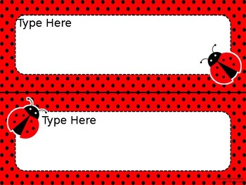 Ladybug EDITABLE Parent Letter, Announcement, Newsletter, Stationary, Name Tags