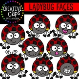 Ladybug Faces: Insect Clipart {Creative Clips Clipart}