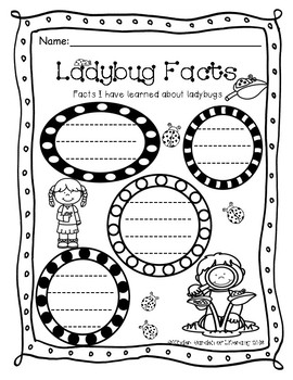 Ladybug Facts Sheet
