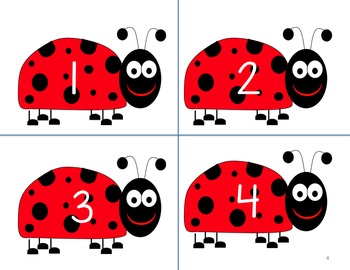 Ladybug Flashcards and Number Match