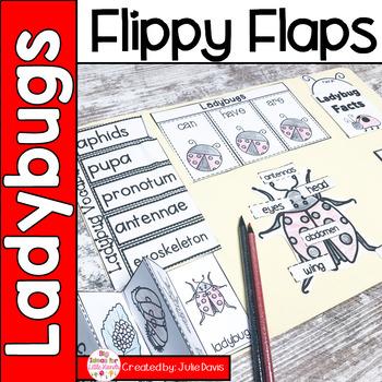 Ladybug Flippy Flaps Interactive Notebook Lapbook