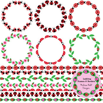 Ladybug Frames and Borders Clipart