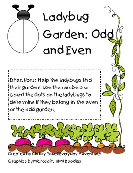 Ladybug Garden:  Odd and Even