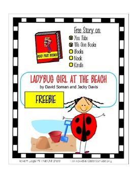 Ladybug Girl at the Beach - Freebie