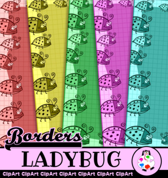 Ladybug Grid Border Papers