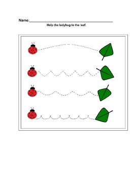 Ladybug Handwriting Worksheet Freebie