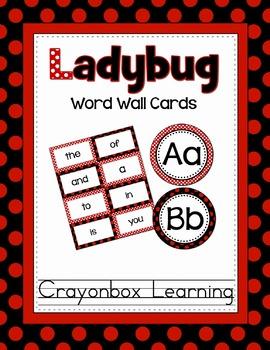 Ladybug Word Wall & Headers - {Editable Template too!}