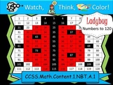 Ladybug Hundreds Chart to 120 - Watch, Think, Color! CCSS.