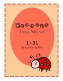 "Ladybug ""I Have, Who Has..."""
