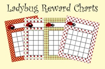 Ladybug Incentive Reward Charts - 4 Designs
