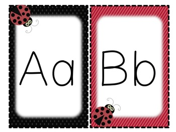 Ladybug Individual Alphabet and Number Signs - Two Versions