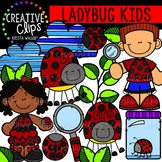 Ladybug Kids {Creative Clips Clipart}