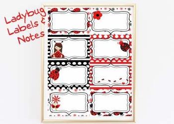 Ladybug Labels & Notes