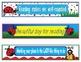 Ladybug Lady Bug Bookmarks, Shelf Markers or Desk Name Plates - EDITABLE