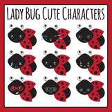 Ladybug / Lady Bug Characters Clip Art Set for Commercial Use