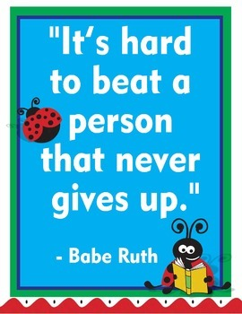 "Ladybug Lady Bug Growth Mindset Posters - 8.5""x11"", 18""x24"" - Ready for Printing"