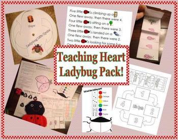 Ladybug, Lady bug Life Cycle and Math and Reading Activities