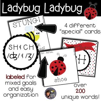 Ladybug Ladybug! - A Spring Articulation Game for Speech - SH, CH, J, & ZH