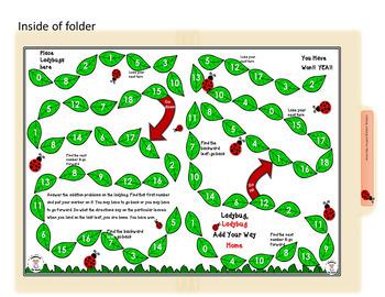 Math-Addition - Ladybug, Ladybug Add Your Way Home Board Game
