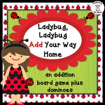 Math- Addition - Ladybug, Ladybug Add Your Way Home Board Game
