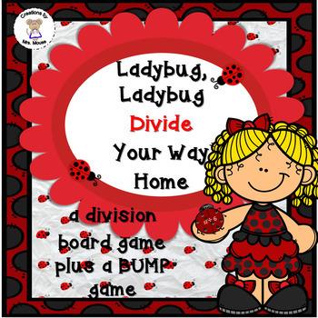 Math-Division- Ladybug, Ladybug Divide Your Way Home Board Game