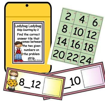 Ladybug Ladybug Skip Counting by 2 Envelope Center