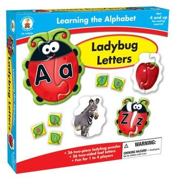 Ladybug Letters Puzzle Boxed Game Grades PK-1 140086