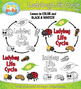 Ladybug Life Cycle Clip Art Set — Comes In Color and Black