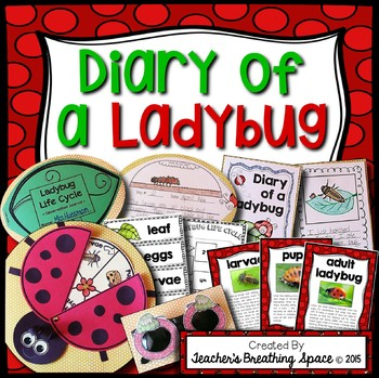 Ladybug Life Cycle --- Diary of a Ladybug Writing Project & More