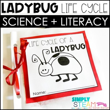 Ladybug Life Cycle Mini-Book and Worksheet {NO PREP}