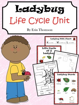 Ladybug Life Cycle Unit ~ Literacy and Science Activities