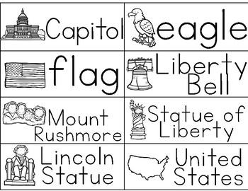 American Symbols {word wall cards}