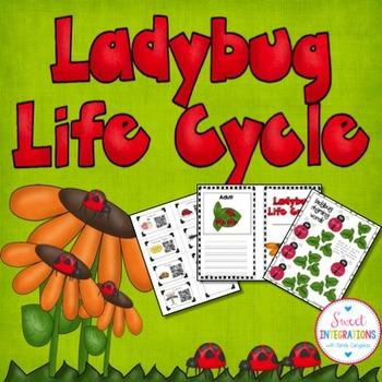 LADYBUG LIFE CYCLE ACTIVITIES - Slideshow, Mini-Book, and Games