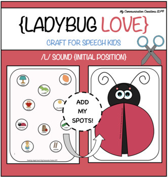 Ladybug Love - Initial /L/ Craft for Speech Therapy { Cut + Paste }