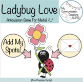 Ladybug Love - Medial /L/ Articulation Activity