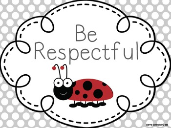 Ladybug Manners and Expectations Posters {Editable}