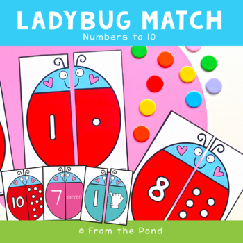 Number Games {Ladybug Match - Math Center Numbers to 10}