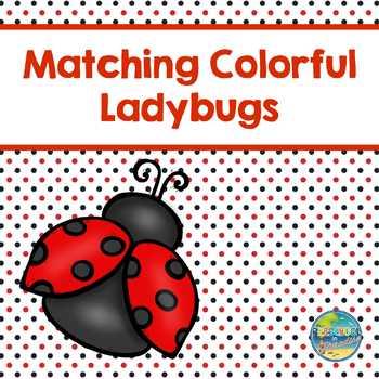 Matching Colorful Ladybugs  File Folder Game